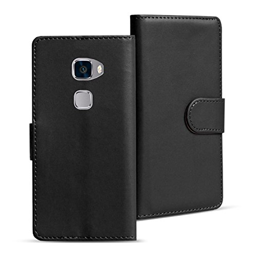 Verco Mate S Hülle, Handyhülle für Huawei Mate S Tasche PU Leder Flip Case Brieftasche - Schwarz