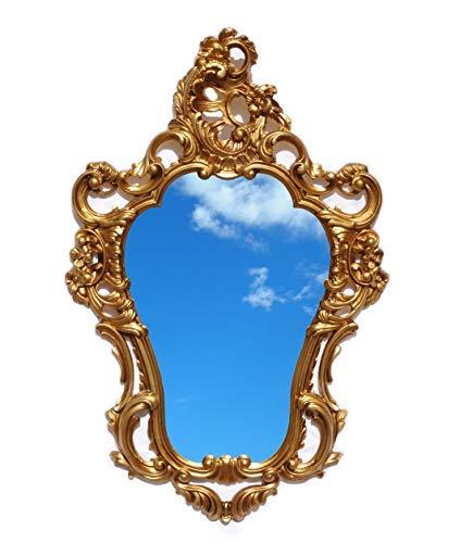Miroir doré, style Louis XVI, imitation Vintage - Idéal pour une décoration baroque