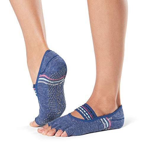 Toesox Damen Zehensocken für Pilates Barre - Rutschfeste Mia Half Toe für Yoga und Ballett Socken S Jock