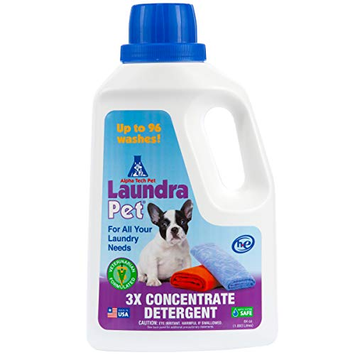 LaundraPet Premium Laundry Detergent | Removes Animal Odors and Stains | Ideal for Home, Clinic or Kennel | Economical Pet Detergent | 64 Oz.