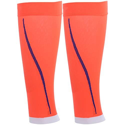 Keenso 1 par de Mangas Protectoras para piernas, Calcetines de compresión para piernas con Soporte para pantorrillas, Medias Protectoras Deportivas sin pies(S/M)
