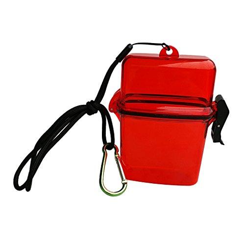 Baoblaze Mini Drybox Aufbewahrungsbox Mehrzweck Box Trockenbox Plastikbox Aufbewahrungskoffer Super zum Tauchen oder Schnorcheln - Rot