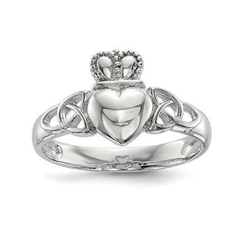 925 Sterling Silver Irish Claddagh Celtic Knot Band Ring Size 7.00 Fine Jewelry For Women Mothers Day Gifts For Her