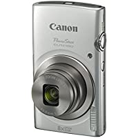 Manufacturer Refurbished Canon PowerShot ELPH 180 20MP 720p Wi-Fi Digital Camera with 8x Optical Zoom (Silver)