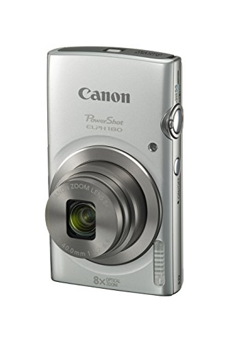 Canon PowerShot ELPH 180 Digital Camera w/ Image Stabilization and Smart AUTO Mode (Silver), 0.90in....