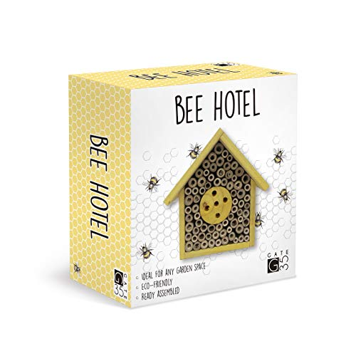 Eco-Friendly Bee House Hotel - Insect Nest Box for Gardens and Yards