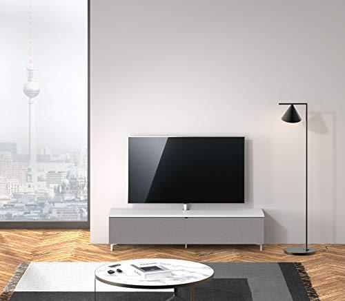 SPECTRAL® Just-Racks TV-Sound-Lowboard JRB1604-SNG mit Stoffklappe, inkl. TV-Halterung und Universal Soundbar Ablage, (B/H/T) 160x38x40cm, Snow…
