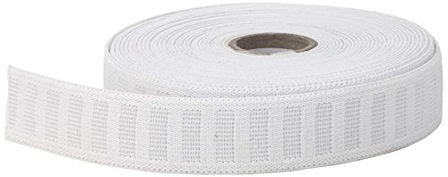 PEARL No roll Elastic, 1' to 10 yd, White