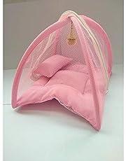 Weird Laddu Gopal Mosquito Net Luxury Bed with Pillow 10*10 Inch