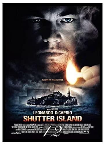 Pozino Cuadro de Lienzo Cuadro de película Shutter Island Movie 60x90cm