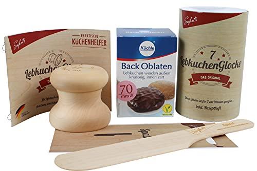 Backen | Lebkuchen Set | Lebkuchenglocke Oblaten | Spatel