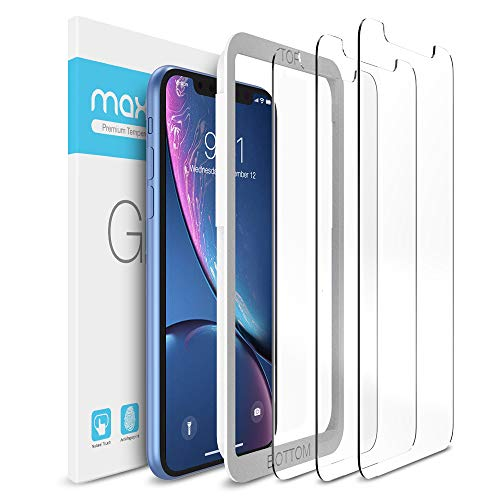 Maxboost Screen Protector Compatible with Apple iPhone 11 and iPhone XR (6.1 Inch) (3 Pack, Clear) 0.25mm Pro Tempered Glass Film Advanced 12 HD Clarity/Case Friendly 99% Touch Accurate