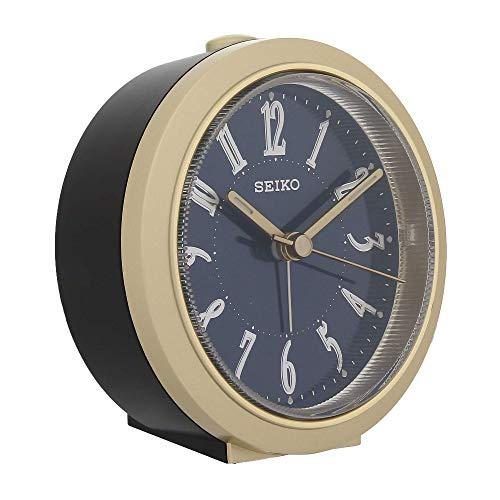 Seiko Blue Dial Round Black Color Alarm Clock