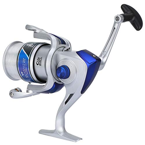 Carrete de pesca plástico Spinning Reel Pesca 12BB para agua dulce/sal mar Pesca rueda YF serie Silver4000