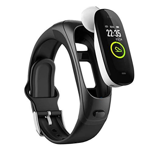 MELKEVDY Smart Watch Fitness Tracker Pulsera Inteligente Auriculares Bluetooth Probador De Ritmo Cardíaco Llamadas con Manos Libres Reloj Inteligente para Hombres