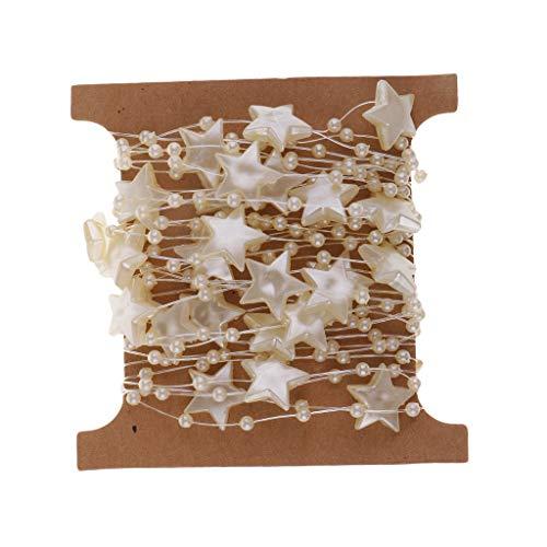 Hellery 5m Kettenstern Kunststoff Perlenkette Perlen Perle Girlande Für Hochzeitsfest Dekor