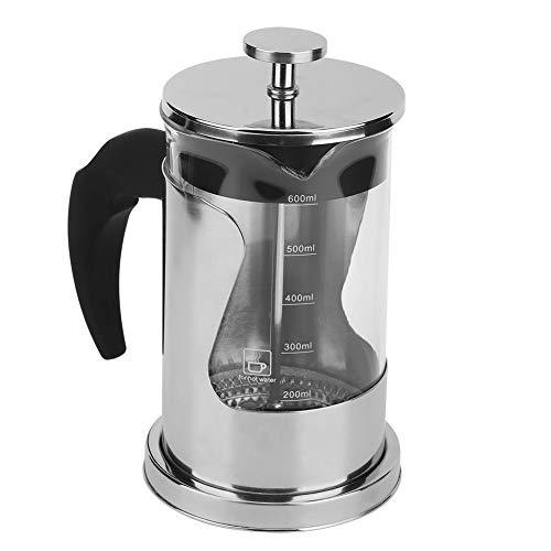 Pers Koffiezetapparaat Pot, Handpers Koffie Frans Drukfilter Pot Koffiepot Huishoudelijke thee Roestvrijstalen filter Hittebestendige glazen pot