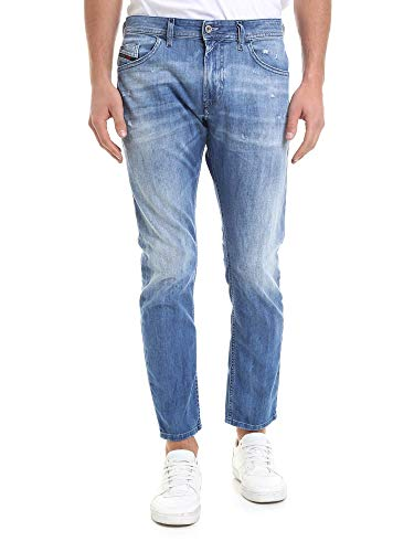 Luxury Fashion | Diesel Heren 00SW1P081AS01 Donkerblauw Elasthaan Jeans | Seizoen Outlet