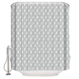 Anmevor Shower Curtains for Bathroom,White Unicorn Shadow 72'x72' Polyester Fabric Curtains Set with Hooks,Waterproof