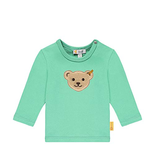 Steiff Baby-Jungen Langarm T-Shirt, Winter Green, 080