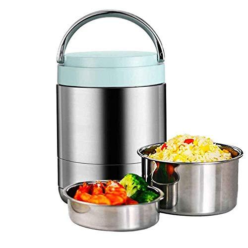 fiambrera 1000ml vacío de acero inoxidable con aislamiento frasco con la manija, almacenamiento de alimentos sopa de gachas termo for comida caliente se puede mantener 5-6 horas el transporte de conte
