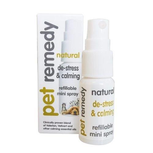 Pet Remedy Natural eficaz calmante De-Stress Ansiedad Alivio Perros Gatos Caballos (15 ml Mini Spray)