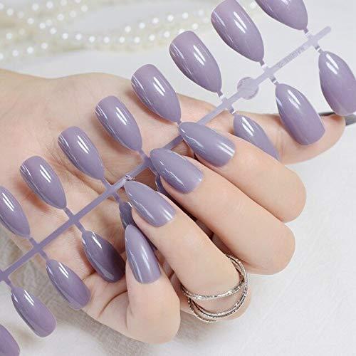 DKHF Valse nagels 24 stuks solide baby roze ovaal licht pinkfake nagels tips manicure kunstmatige nagels salon