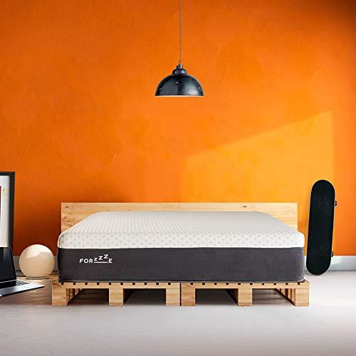 FORZZE - Colchón Wool 90X190 con Lana Natural, viscoelástica de Soja, termoregulador,Transpirable, firmeza Media - Alta, 26 cm de Grosor. Fabricado en España.