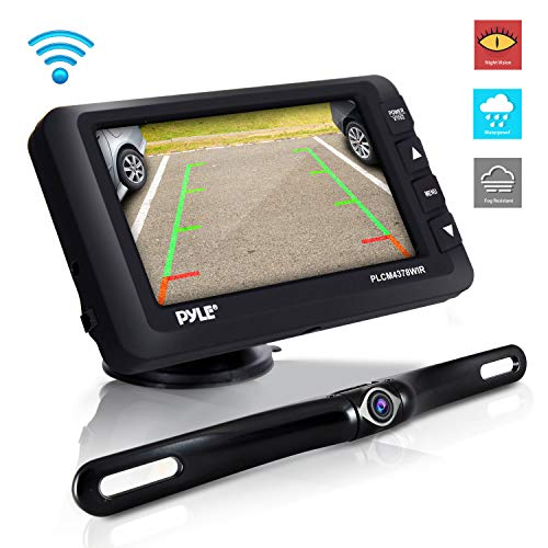 Wireless Rear View Backup Camera-Upgraded Vehicle Parking Reverse System w/Monitor Kit, IP67 Waterproof and Fog Resistant, 4.3''LCD Screen, Tilt-Adjustable Dash Cam, Night Vision-Pyle PLCM4378WIR.5