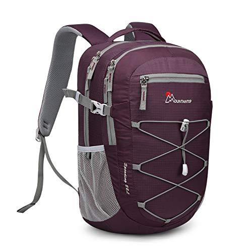 MOUNTAINTOP Trekking Backpack for Men Women 22 Liters Lightweight Rucksack for Outdoor Travel Sports Hiking Backpacks Casual Backpack Daypack
