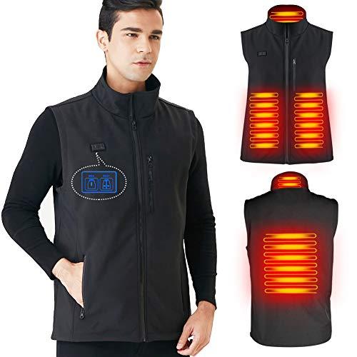 DINOKA Gilet riscaldato, riscaldatore di Ricarica USB Lavabile di Riscaldamento scaldino del radiatore della Giacca riscaldata per Uomini Donne Campeggio Escursionismo attività Invernali all aperto