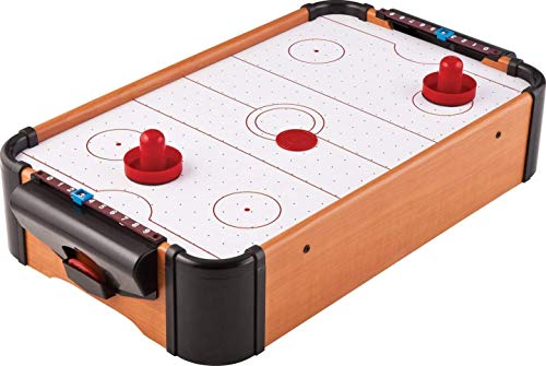 Mini Arcade Air Hockey Table w/ Puck, Pusher - Battery-Operated Table Top Toys | Indoor & Outdoor Games