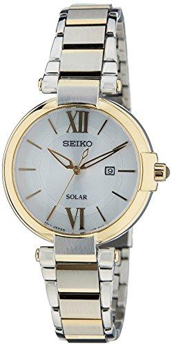 Seiko Solar Damen-Uhr Edelstahl mit Metallband SUT154P1