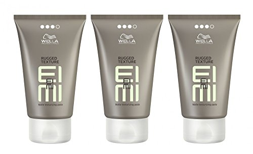Wella EIMI Rugged Texture 3 x 75 ml Styling Mattierende Modelliercreme Professionals (Nachfolger von Rugged Fix)
