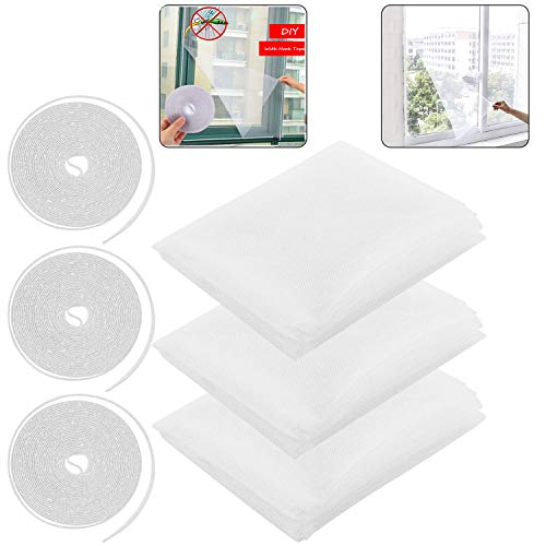 protector de malla de cinta adhesive, malla mosquitera para ventanas de blanco, mosquitera autoadhesiva para ventana, mosquitera con cintas autoadhesivas, ventana de malla de insecto
