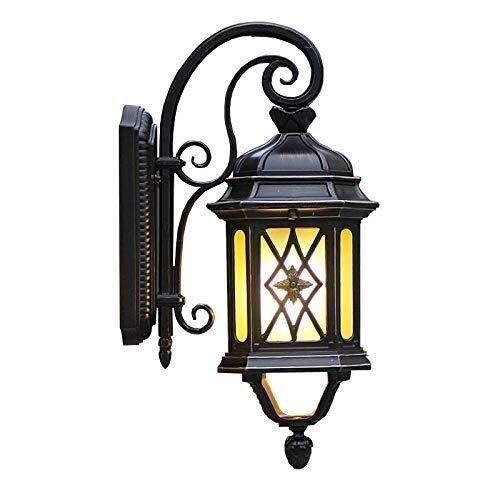UWY Lámpara de Pared al Aire Libre con Cuello de Cisne Cuadrado Retro Chino Lámpara de Pared de Aluminio Fundido a presión a Prueba de Agua Lámpara de Pared Exterior de Estilo japonés tradiciona