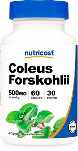 Nutricost Coleus Forskohlii 500mg, 60 Capsules - Maximum Strength...