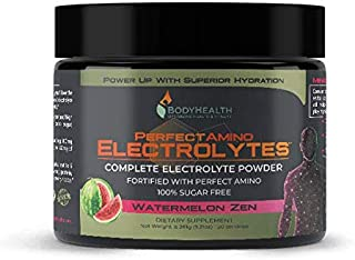 PerfectAmino Electrolytes - Watermelon Zen Flavor (50 Servings): Complete Electrolyte Powder with Perfect Amino, Sugar Free