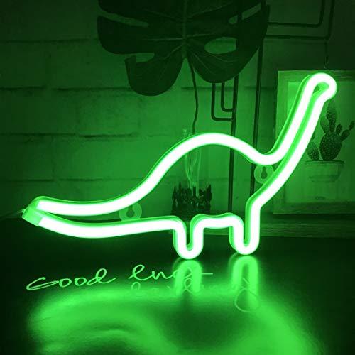 QiaoFei Neonlicht, LED Dinosaurier Nachtlicht Wanddekoration für Weihnachten, Geburtstagsfeier, Kinderzimmer, Wohnzimmer, Hochzeit, Party Dekoration (grün)