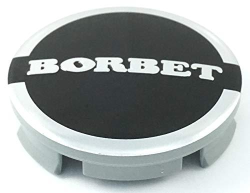 1x Original Borbet Nabendeckel | Felgendeckel | Nabenkappe Anthrazit Glanz Silber Center Cap 56mm NEU!