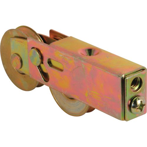 Prime-Line Products D 1754 Roller Assembly, 1-1/2 in. Tandem Wheels, Concave Edge, Steel Ball Bearings, Adjustable