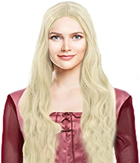 Long Blonde Curly Wig Witch Sarah Halloween Cosplay Costume Accessories Makeup Women Girls
