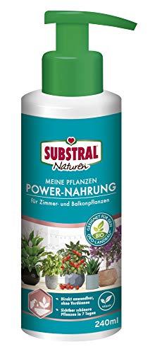 Substral Naturen Meine Pflanzen Power Nahrung, Veganer rein pflanzlicher Bio-Flüssigdünger für Obst, Gemüse und Zierpflanzen, 240 ml Pumpflasche