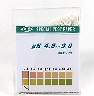 PH4.5-9.0試紙、PH試験紙、2色精密試験紙、1箱100枚入り、測定水質、化粧品、洗濯液、生活用品、土質、果物など