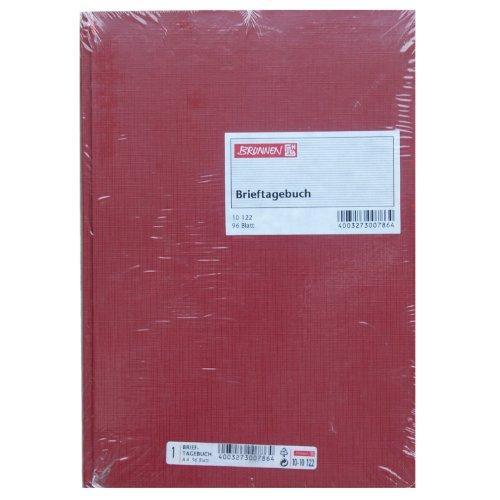 König & Ebhardt 8610122 Geschäftsbuch / Brieftagebuch / Post-Ein und Ausgangsbuch (A4 80g/m², 96 Blatt Fadenheftung, mit Seitenzahl)