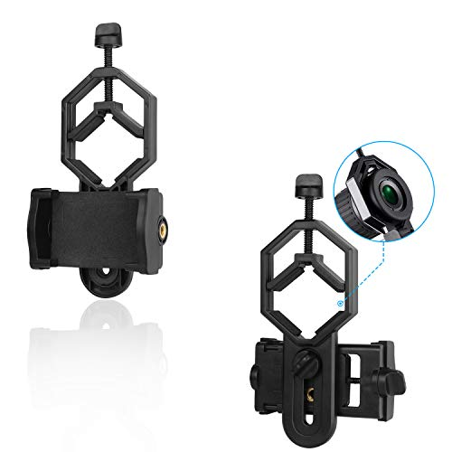 NOCOEX Cell Phone Adapter Mount - Cellphone Smartphone Quick Photography Adapter Mount Compatible Binocular Monocular Spotting Scope Telescope Microscope, Fits Almost All Smartphone on The Market