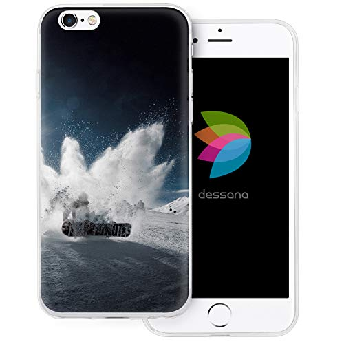 dessana Winter Sport transparente Schutzhülle Handy Case Cover Tasche für Apple iPhone 6/6S Snowboard Kunststück