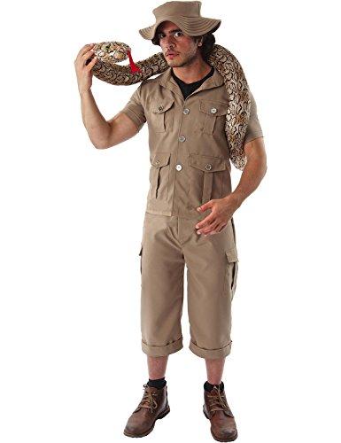 ORION COSTUMES Costume de déguisement de gardien de zoo avec combinaison d'explorateur de jungle ou de safari kaki pour hommes