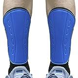 Senston Espinilleras con Protección de Tobillo, Espinilleras de Fútbol Unisex, para Adultos y Adolescentes