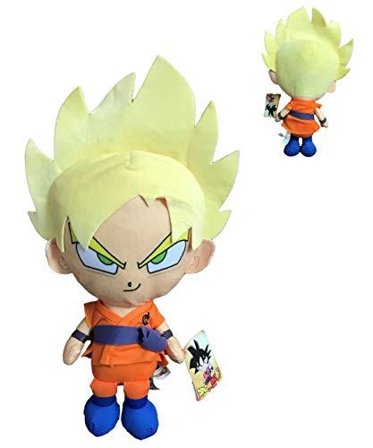 DB Dragon Ball - Personaggi di Peluche Goku, Vegeta e Beerus di Dragon Ball Super - qualità Super Morbida (30CM, Goku Super Saiyan)